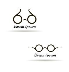 Glasses logo design on a white background vector