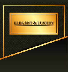gold banner flyer style design template vector image