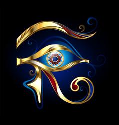 Gold eye of horus vector
