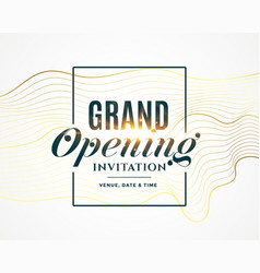 grand opening invitation flyer design vector image