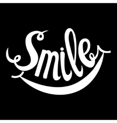 Hand Drawn Lettering Word Smile vector