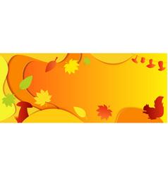 Horizontal bright autumn background orange autumn vector