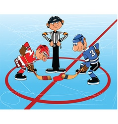 Ice hockey cartoon vector