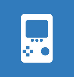 Icon on background tetris portable game vector