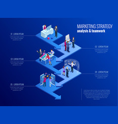 Isometric presentation business infographics vector