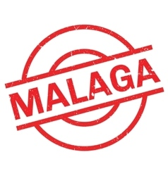 Malaga rubber stamp vector