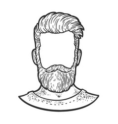 male face template sketch vector image