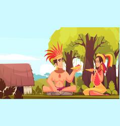 maya family background vector image