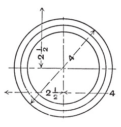 Mechanical drawing exercise circle with wavy vector