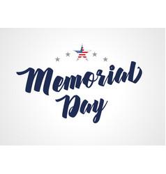 Memorial day stars light banner vector
