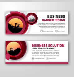 modern corporate banner background design vector image