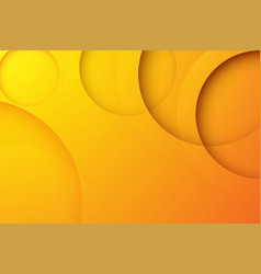 Modern orange backgrounds abstract 3d circle vector