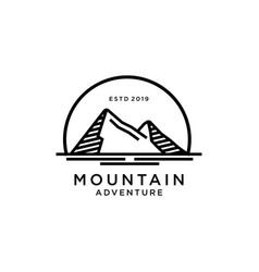 mountain logo design inspiration vector image