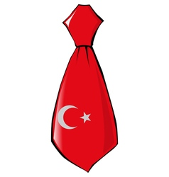 Necktie in national colours of Turkey vector