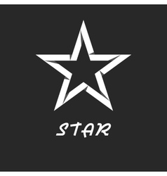 Paper star mockup black and white logo design vector image