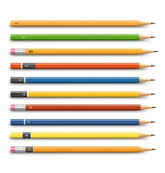 Pencils various design vector image