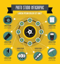 Photo studio infographic concept flat style vector