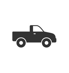 pick-up car glyph icon or suv vehicle vector image