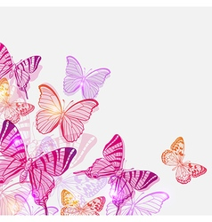 Pink and violet butterflies vector