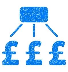 Pound Financial Scheme Grainy Texture Icon vector