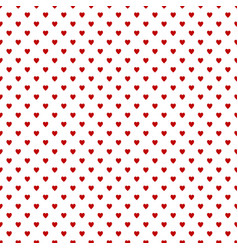 repeating heart pattern background design - love vector image