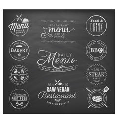 Restaurant Badges and Labels in Vintage Style vector image