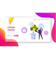 roi return on investment website landing page vector image