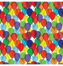 seamless background with balloons vector image