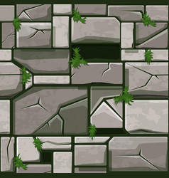 seamless stone texture on grass background stone vector image