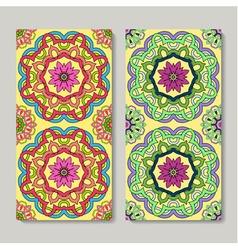 seamless vertical patterns set hand drawn vector image