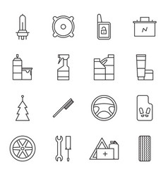 Set of car accessories icons vector