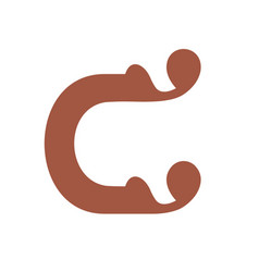 sign of the letter c vector image