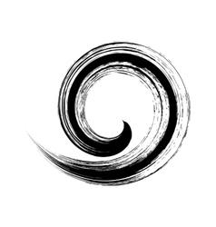 single brush stroke spiral vector image