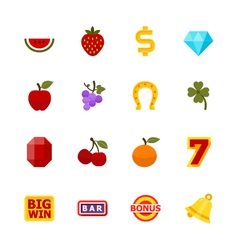 Slot Machine Icons vector image