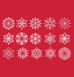 Snowflake set snow flake isolated icon vector