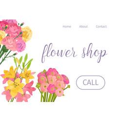 spring flowers shop design vector image