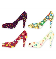 Stylized woman shoes vector