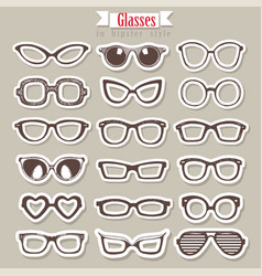 Summer sunglasses set vector