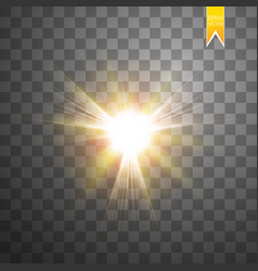 sun isolated on transparent background vector image