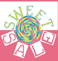 sweet sale5 vector image