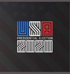 Us presidential election logo 2020 template vector