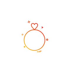 valentines ring heart gift icon design vector image