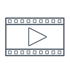 video player symbol vector image