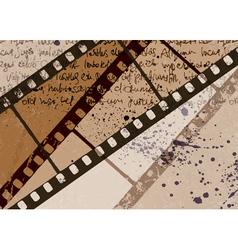 Vintage film background vector