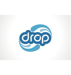water drop word text logo free icon vector image