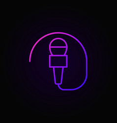wired mic concept colorful icon or symbol vector image