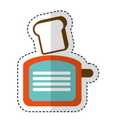 bread toaster kitchen utensil isolated icon vector image vector image