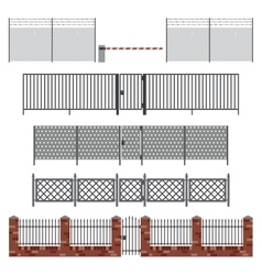 Metal fences and gates vector image