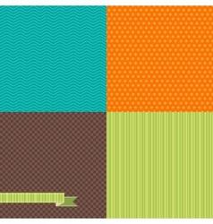 Seamless abstract retro pattern Stylish geometric vector image