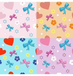 Seamless with bows vector image vector image